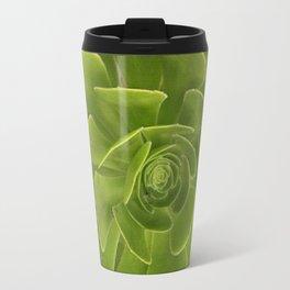 COLLAGE GRAY-GREEN  SUCCULENTS  MODERN DESIGN Travel Mug