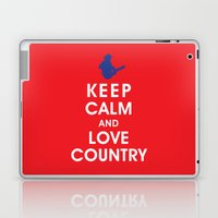 Keep Calm and Love Country Laptop & iPad Skin