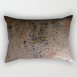 Gold and Black Spatter Rectangular Pillow