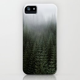 Dizzying Misty Forest iPhone Case