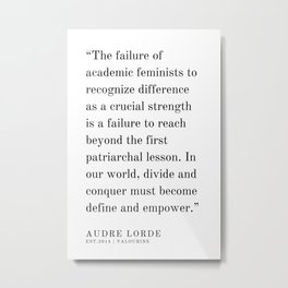 31  | Audre Lorde |Audre Lorde Quotes | 200621 | Black Excellence Metal Print