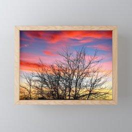 VIVID FALL SUNSET Framed Mini Art Print