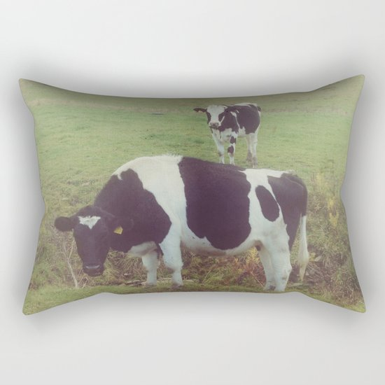 Rustic Cows Rectangular Pillow