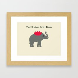 The elephant in my room Framed Art Print