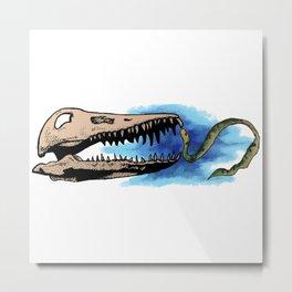 Present Meets Past - Sea Snake Metal Print
