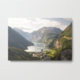 Geiranger Fjord Metal Print