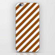 Diagonal Stripes (Brown/White) iPhone & iPod Skin