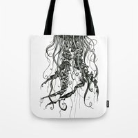 jellyfish Tote Bags featuring Jellyfish by Aubree Eisenwinter
