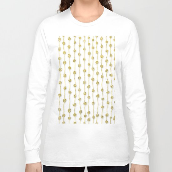 Raining Gold Glitter Confetti - Luxury golden design on #Society6 Long Sleeve T-shirt