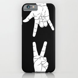 Peace Love and Rock N Roll iPhone Case