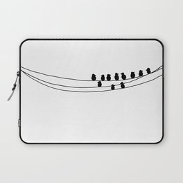 Drawing of Birds on Wires by Emma Freeman Designs Laptop Sleeve