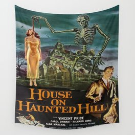 Vintage poster - House on Haunted Hill Wall Tapestry
