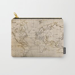World Map 1844 Carry-All Pouch