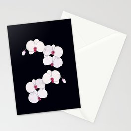Trois Orchids and a Bud Stationery Cards