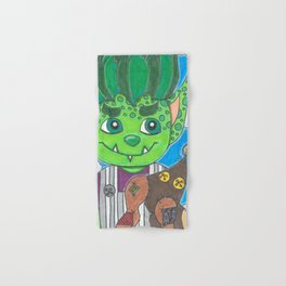 Young Goblin with stuffed dog Hand & Bath Towel
