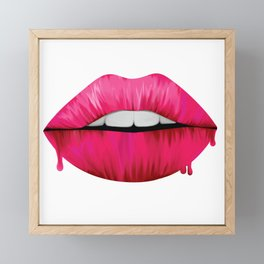 Painted Lips Framed Mini Art Print