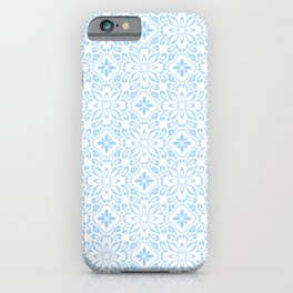 Icy Blue Porteguese Tile Pattern iPhone Case