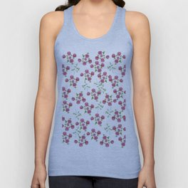 Watercolor roses on white backgroung Unisex Tank Top