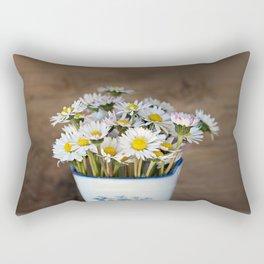 Daisy Flower Bouquet Rectangular Pillow