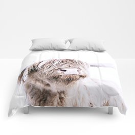 HIGHLAND CATTLE PORTRAIT Comforters