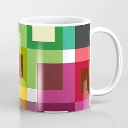 Geometric Pattern 11 (Colorful squares) Coffee Mug
