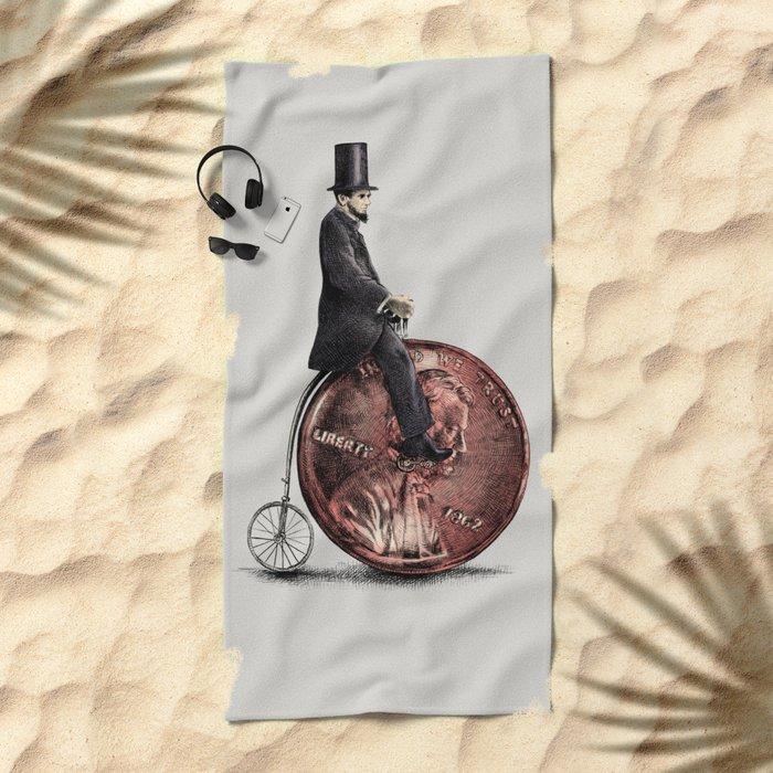 Penny Farthing (grey option) Beach Towel