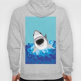 Great White Shark Attack Hoody