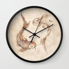 Yin Yang Fish Wall Clock