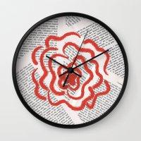 lolita Wall Clocks featuring Lolita by Lina Elyse Patton