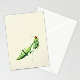 Mantis with a Fez Stationery Cards