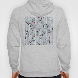 Geometric Mistletoe Holiday Design Hoody