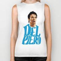 juventus Biker Tanks featuring Del Piero Name Blue by Sport_Designs