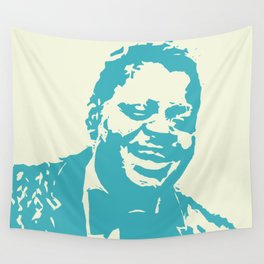 Oscar Peterson - Jazz - Woodcut Wall Tapestry