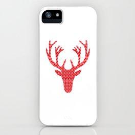 Red deer head iPhone Case