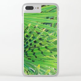 Fan Palm Clear iPhone Case