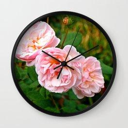 Pink Flower Bunch Wall Clock