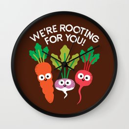 Motivegetable Speakers Wall Clock