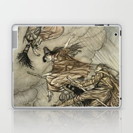 """Four Witches """"Up The Chimney"""" by Arthur Rackam Laptop & iPad Skin"""