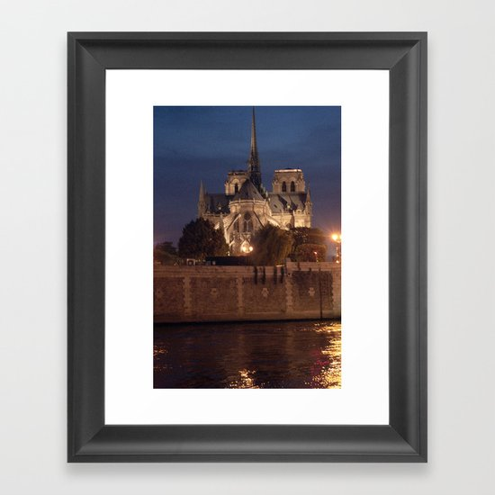 Paris by Night: Notre Dame Framed Art Print