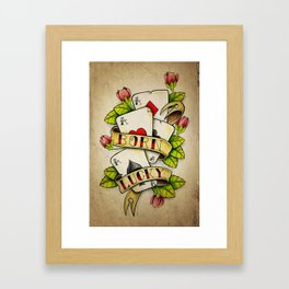 Born Lucky - Tattoo Artwork Framed Art Print