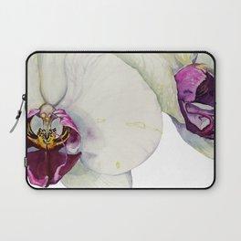 Cream & Fuchsia Phalaenopsis Orchids Laptop Sleeve