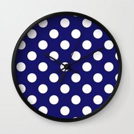 Navy Dots Wall Clock