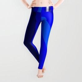 Blue Christmas Star Leggings