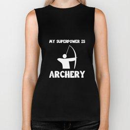 My Superpower is Archery Sportsman Hunting T-Shirt Biker Tank