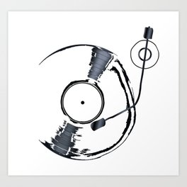 Record Deck Background Art Print