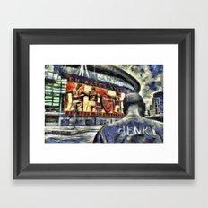 Thierry Henry Statue Emirates Stadium Art Framed Art Print