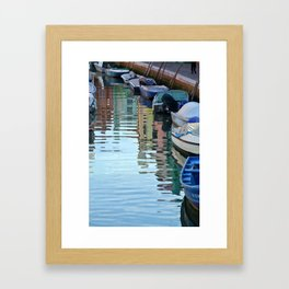 Burano Canal Reflections Framed Art Print
