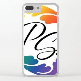 PS...Burlesque Logo Mark Clear iPhone Case
