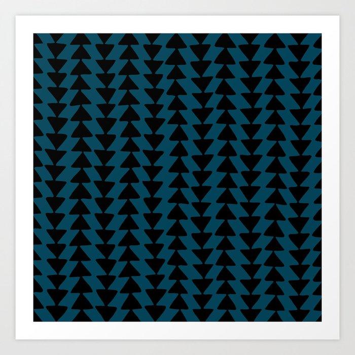 Blue Arrows Art Print