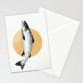 Malibu Salmon Stationery Cards